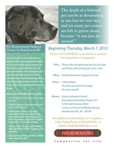 Four Seasons Pet Bereavement Support