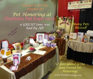 Charlotte Pet Expo Pet Honoring1