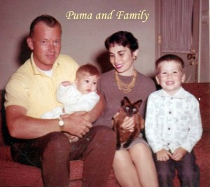 Puma and my family 1962 Pet Honoring